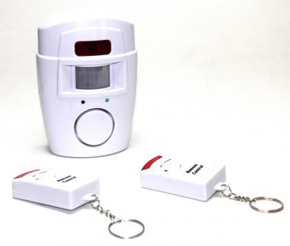 Alarme sans contact, 2 télécommandes - 105 décibels - Détection 5 mètres