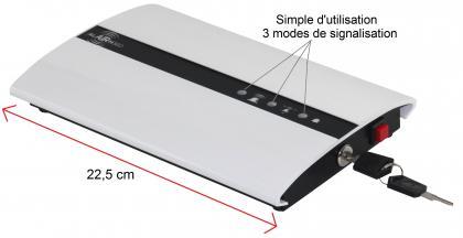 Alarme volumétrique 360°, 3 modes de signalisation - 2 volumes paramétrables