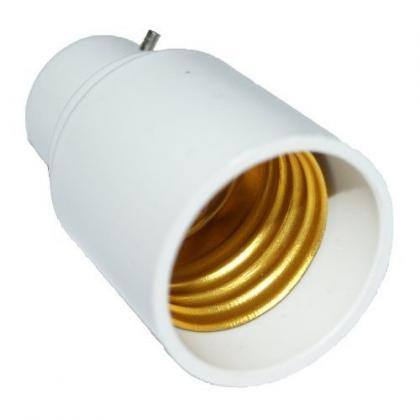 Adaptateur de douille, à baïonnette pour ampoule à vis, lot de 2