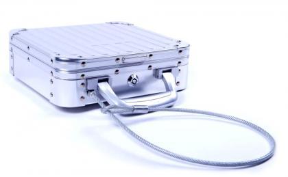 Attaché Case Sécurité, Fermeture à clef - Câble antivol - Aluminium 1.2mm