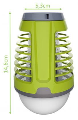 Ampoule 2 en 1 Mosquito Killer, Rechargeable USB - Tactile - Extérieur