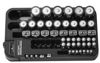 Boîte énergie 98 piles, Capacité 98 piles - Testeur intégré - Sécurité