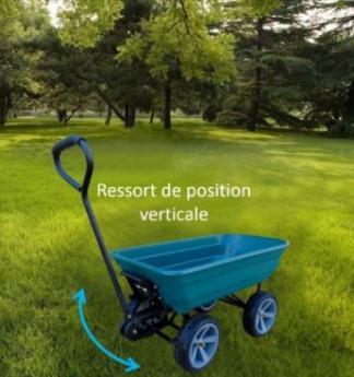 """Brouette """"l'increvable"""" 75 litres, Poignée ergonomique -  2 roues dirigeables - Basculante"""