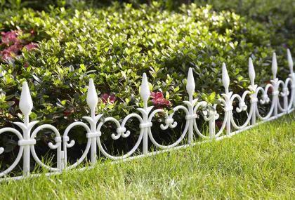 Bordures de jardin par 8, Modulables - Fixation des élements - Longueur totale 4.08 m