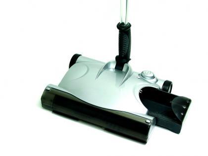 Balai avale-tout rechargeable, Brosse rotative motorisée - Sans sac - Accède sous les meubles