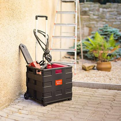Chariot avec caisse pliable, Volume 35 Litres - Charge max 25 Kg
