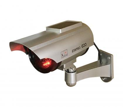 Caméra factice solaire, Utilisation intérieur/extérieur - Led clignotante - Orientable