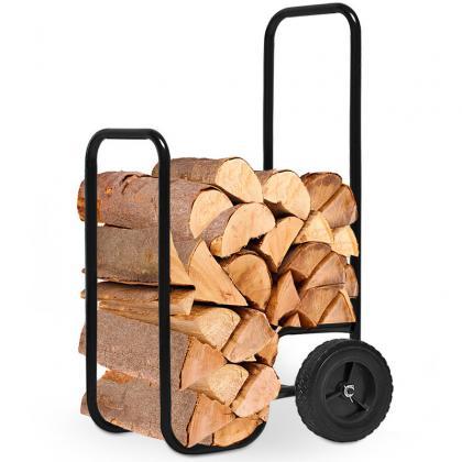 Chariot à bûches, Charge 60 kg - Acier - Maniable