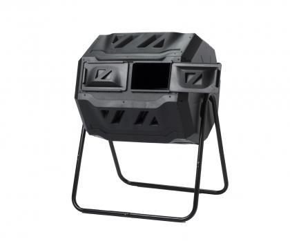 Composteur à tambour, Rotatif - Double compartiment - 10 fois plus rapide