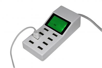 Chargeur Station multi USB, Ecran LCD rétroéclairé - 8 ports - 9.2A