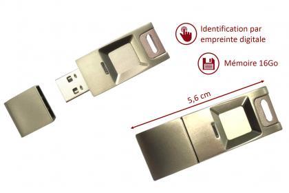 Clé USB fingerprint, 16 GB - Protection des données personnelles