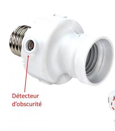 Douille nocturne, Détecteur d'obscurité 360° - Minuteur intégré