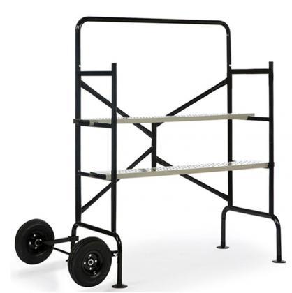 Echafaudage mobile 3 niveaux, 2 plateformes - Maximum 150 kg - 2 roues pour déplacement