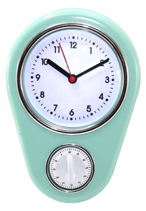 Horloge minuteur Fifties, Simple d'utilisation - Minuteur mécanique - Look rétro