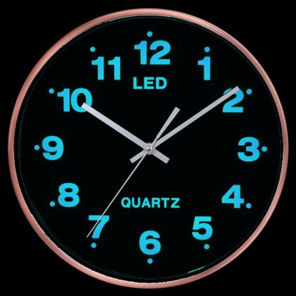 Horloge Blue Light, Rétro éclairage - LEDs Bleues - Lumière douce