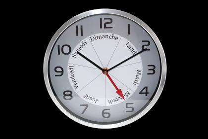 Horloge Bon Jour !, Indication jour de la semaine