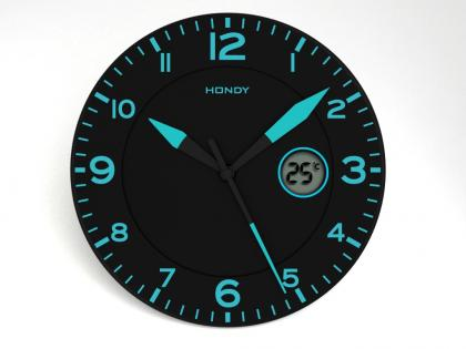 Horloge Blue Night, Phosphorescente - Affiche digital de la température