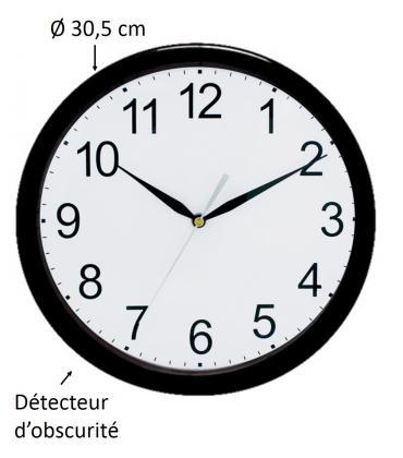 Horloge luminescente, Détecteur d'obscurité - Silencieuse
