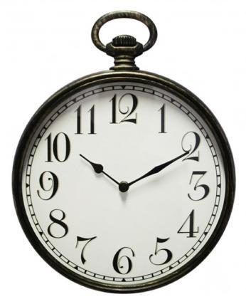 Horloge gousset, Grands chiffres lisibles - Radio-pilotée