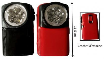 Lampe de poche industrielle, Lot de 2 - Transportable - 90g - 5 LED