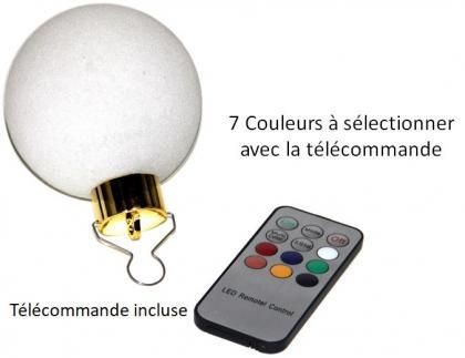 Boules lumineuses colorées, Lot de 6 - LED - télécommandées