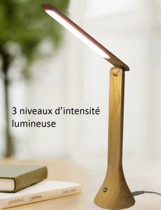 Lampe Wood Touch, 20 Leds COB - Tactile  - Effet bois