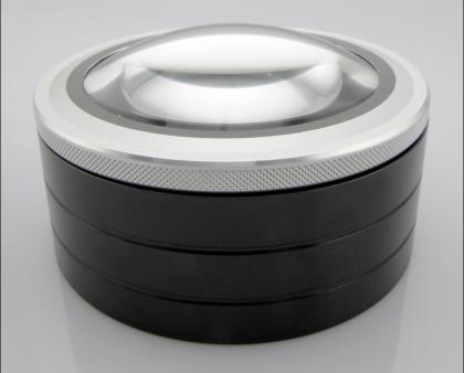 Loupe presse-papier Maxi Zoom, 3 LED automatiques - Zoom x 7.5 - Corps aluminium