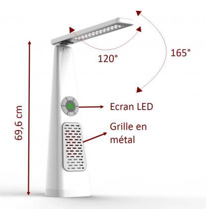 Lampe heatlight exclusive, Chauffage - Ecran LED - 800LM - 3 luminosités