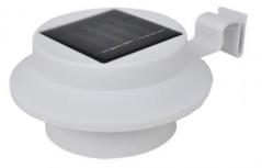 Lampes gouttière solaires, Set de 2 - Télécommandées - LED 7 couleurs -  IP44