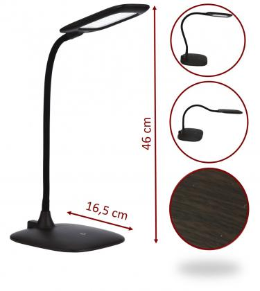 Lampe de bureau flexiwood, Sans fil - Rechargeable - 570LM - Touch