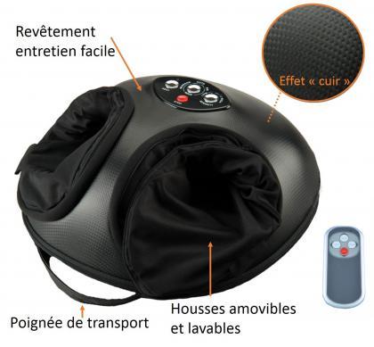 Masseur Bubble feet Confort +, Massage Shiatsu et pressothérapie- Chaleur - Télécommande