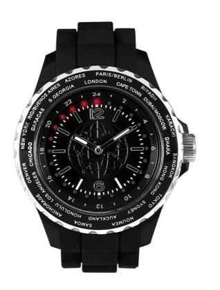 Montre World Time, 24 zones du monde - Aluminium brossé