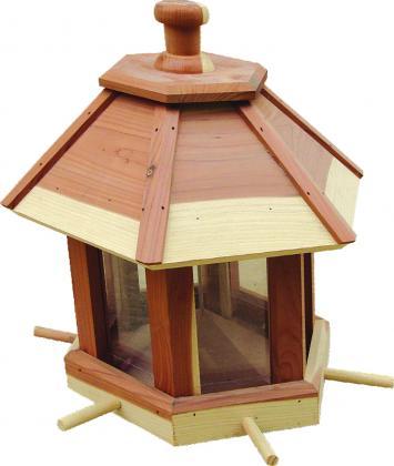 Nichoir à oiseaux, Cèdre rouge - Résistant - A poser ou suspendre