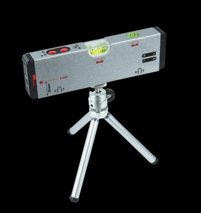 Niveau à bulle laser, 3 faisceaux - Trépied réglable - Aimanté
