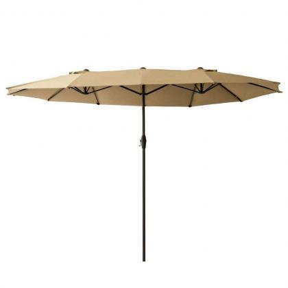 Parasol ovale XXL, 7m2 de surface d'ombrage - Idéal pour table 10-12 personnes