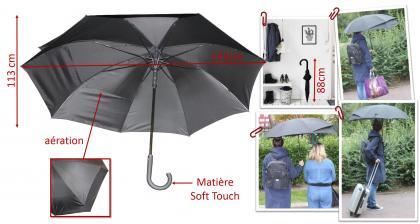 Parapluie Duo XL, Déploiement XL - Ouverture automatique
