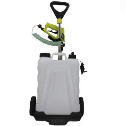 Pulvérisateur électrique, 15 litres sur roulettes