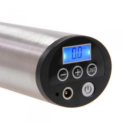 Pompe de gonflage digitale, Ecran LCD retro éclairé - Pression ajustable - Eclairage LED