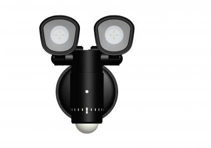 Projecteur Orientable DUO, 8 LED - 400 lumens - IP44 - Détecteur de présence