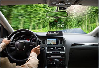 Projecteur de vitesse, Affichage et alarme vitesse - 3 couleurs - Technologie GPS
