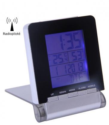 Réveil mondial Silverwide, Radiopiloté - 4 signaux - 7 langues