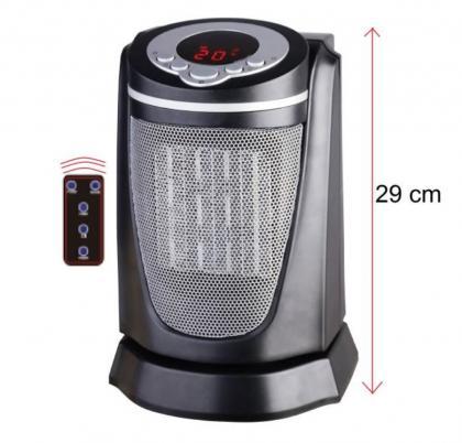 Radiateur céramique 1500 Watts, Télécommande - Ecran LCD - Thermostat minuteur