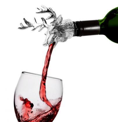 Cerf verseur aérateur de vin, Oxygène et préserve le vin -