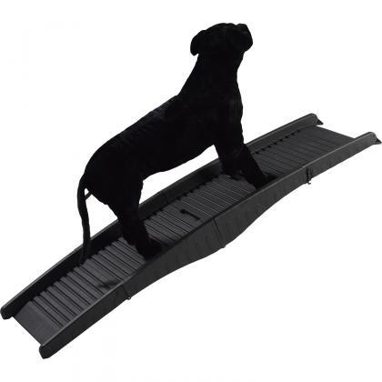 Rampe pliable pour animaux, Rainurée - 50 kg max - Faible encombrement