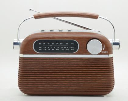 Radio Vintage USB/MP3, Look bois & inox