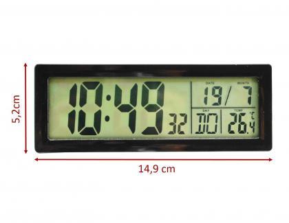 Réveil Ecran Panoramique, Radiopiloté - Fonction Tactile - Ecran rétroéclairé