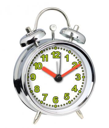 Réveil Temps modernes, Chiffres phosphorescents - Sonnerie électronique