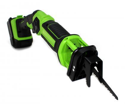 Scie sabre sans fil 18V, Batterie rechargeable 18V - Rallonge manche - 2 lames fournies