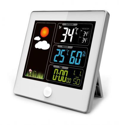 Station météo Color My Day, Ecran LCD couleur - Radiopilotée - Capteur extérieur