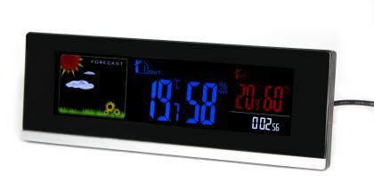 Station météo Panorama, Ecran LCD couleur animé - Radiopilotée - Capteur extérieur